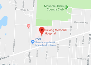 Licking Memorial Hospital Map
